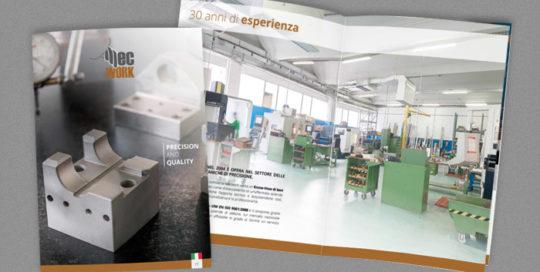 Realizzazione grafica brochure aziendale Mecwork
